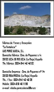 """Luis Pérez Ulecia SL-Yesos y Escayolas """"La Fortaleza"""""""
