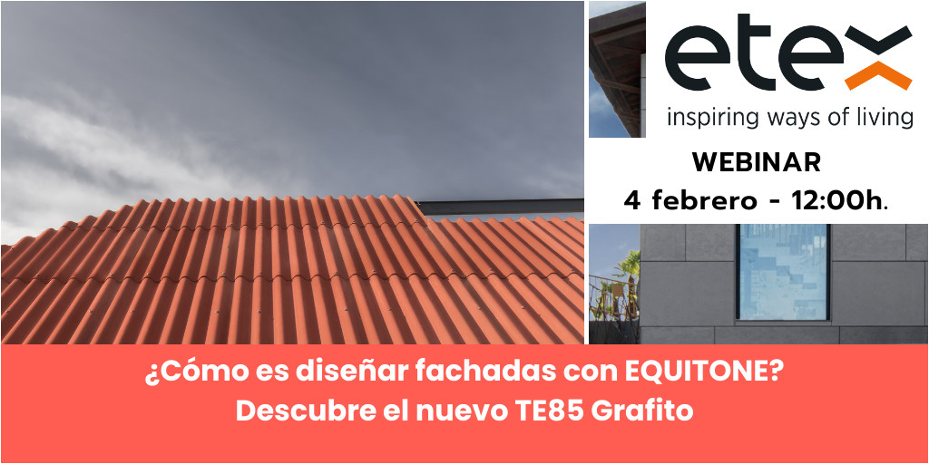 2021 ¿Cómo es diseñar fachadas con EQUITONE?  Descubre el nuevo TE85 Grafito