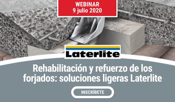 WEBINAR >> LATERLITE REHABILITACIÓN Y REFUERZO DE FORJADOS. Soluciones ligeras Laterlite (3ª edición)