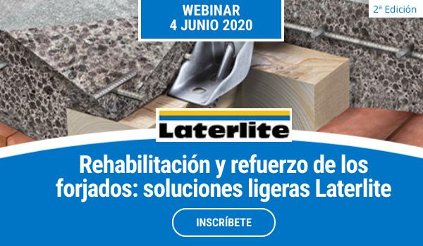 WEBINAR >> REHABILITACIÓN Y REFUERZO DE FORJADOS. Soluciones ligeras Laterlite (2da sesión)