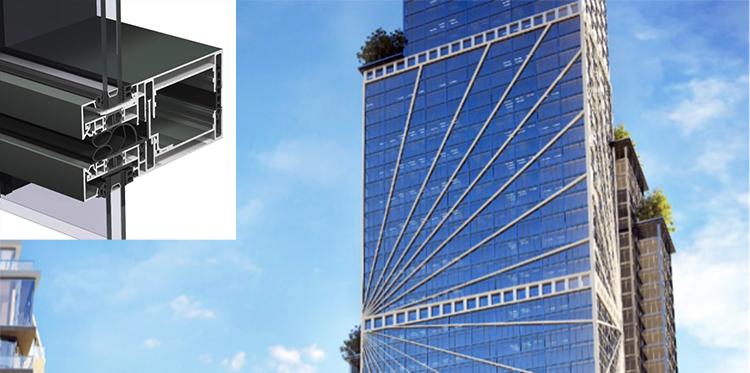 Fachadas modulares compatibles con elementos de apertura estándar