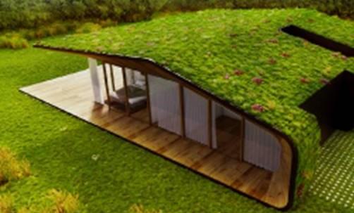 Casa sostenible concebida bajo los principios de la economía circular