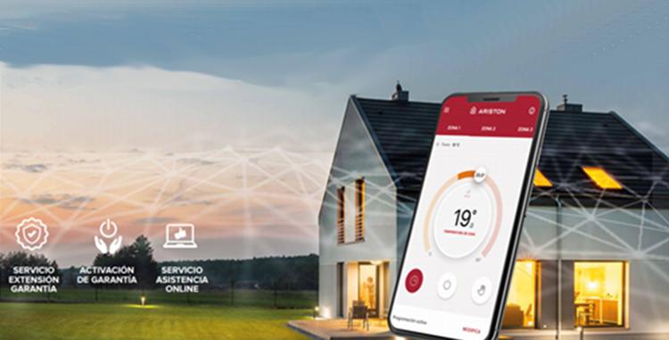 Control online de los aparatos de calefacción y agua caliente