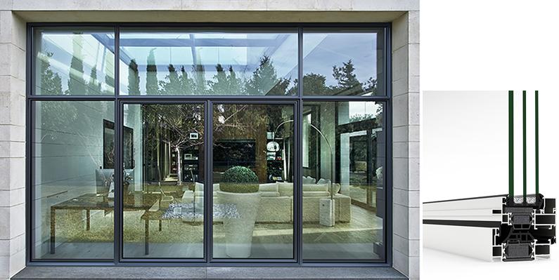 Sistema de ventana y balconera que combina las prestaciones del aluminio con diseños clásicos