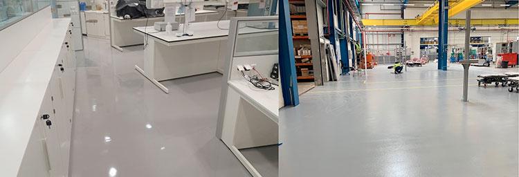 Sistema de pavimentos industriales epoxi electroestáticamente conductivos