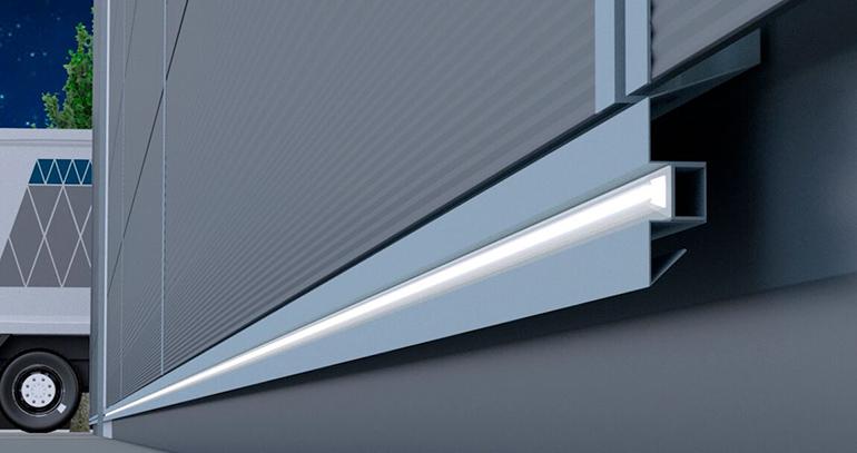 Paneles sándwich con sistema de iluminación integrado