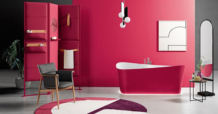 Bañeras de diseño italiano con acabados exteriores en hasta 18 colores