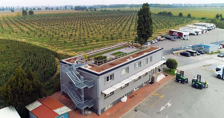 Cubierta ecológica, verde y transitable para un edificio de oficinas