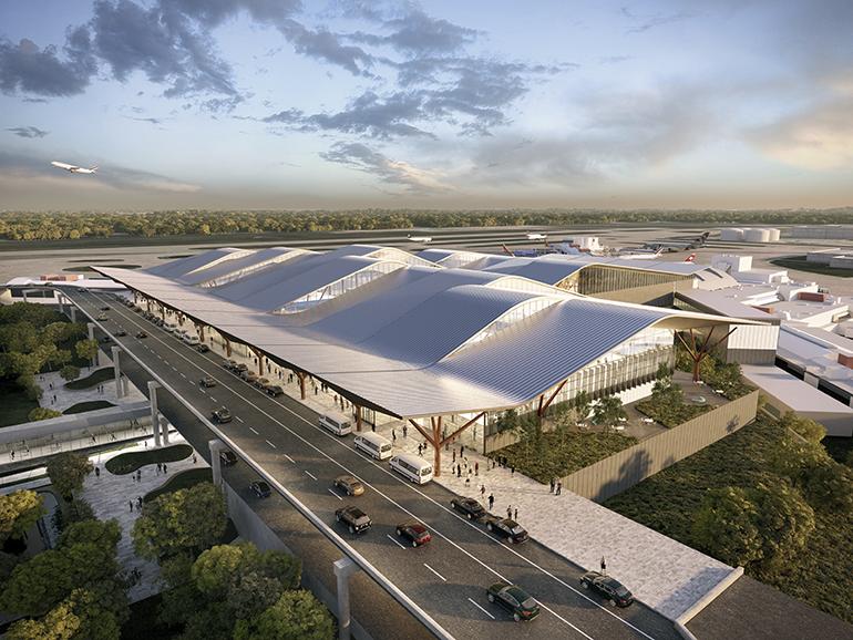 Nuevo diseño para la modernización de la terminal del Aeropuerto Internacional de Pittsburgh