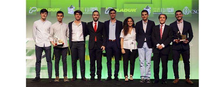 Dos alumnos de la Universidad Politécnica de Cartagena obtienen el premio del Concurso de Soluciones Constructivas de Pladur