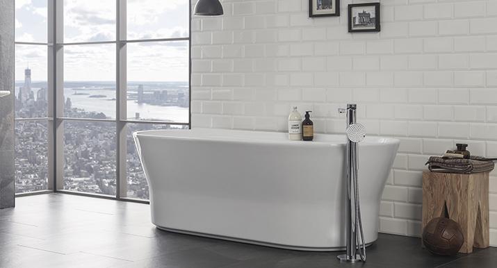 Equipamiento de baño con esencia nórdica y gran practicidad