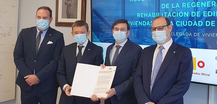 UCI y la EMVS de Madrid firman un acuerdo para favorecer la rehabilitación del parque de viviendas de la capital