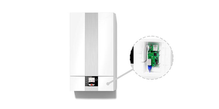 Conexión remota de la calefacción, climatización y ventilación