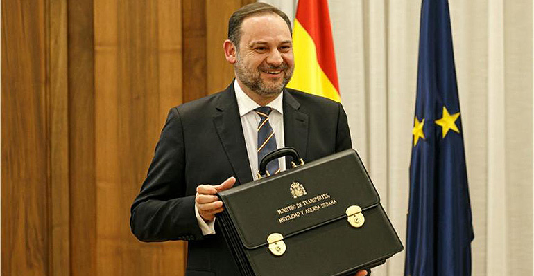 Ábalos presenta el nuevo Ministerio de Transporte, Movilidad y Agenda Urbana