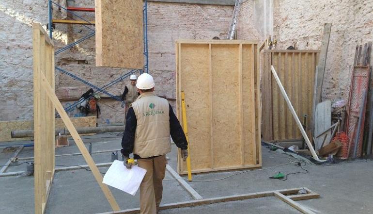 Se inicia la construcci n del primer edificio Empresas de construccion en barcelona