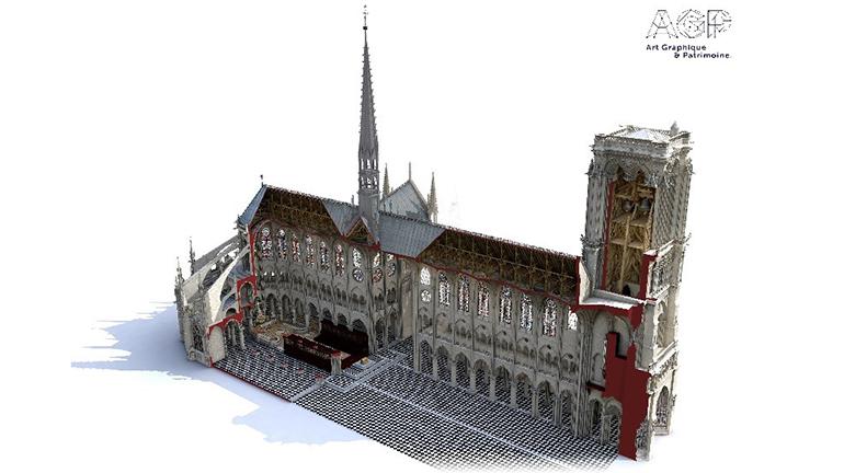 Faro Focus utilizado en la reconstrucción de Notre Dame