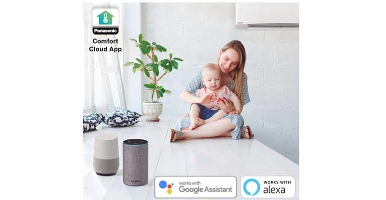 Panasonic incluye control por voz en el aire acondicionado a través de Google Assistant y Amazon Alexa