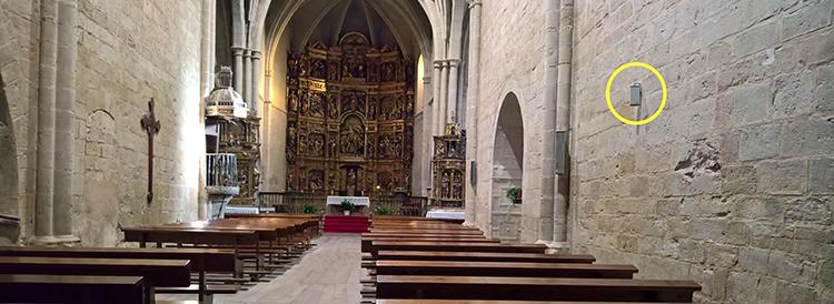 Proceso de secado de la Iglesia de San Juan Bautista de Grañón en La Rioja
