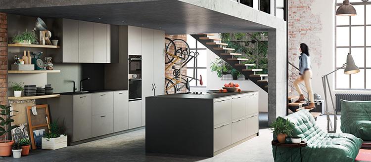 Cocinas que ofrecen una visión del espacio uniforme y ordenado