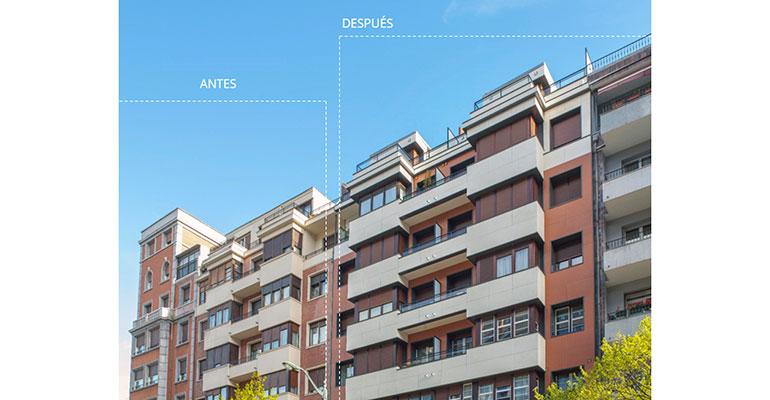 rehabilitacion antes y después fachada