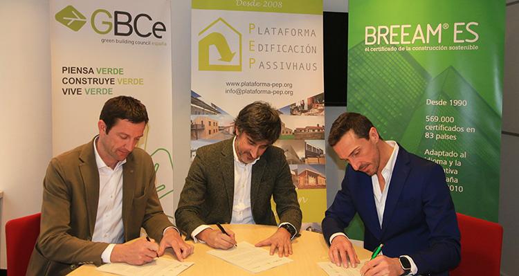 PEP, GBCe y Breeam colaboran para facilitar la adopción de sus estándares en edificación sostenible