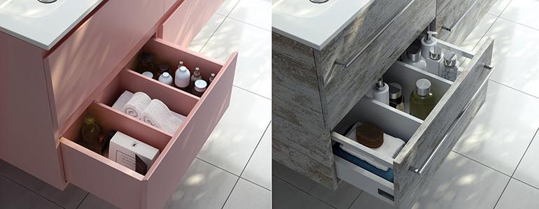 Sistemas de apertura para muebles de baño