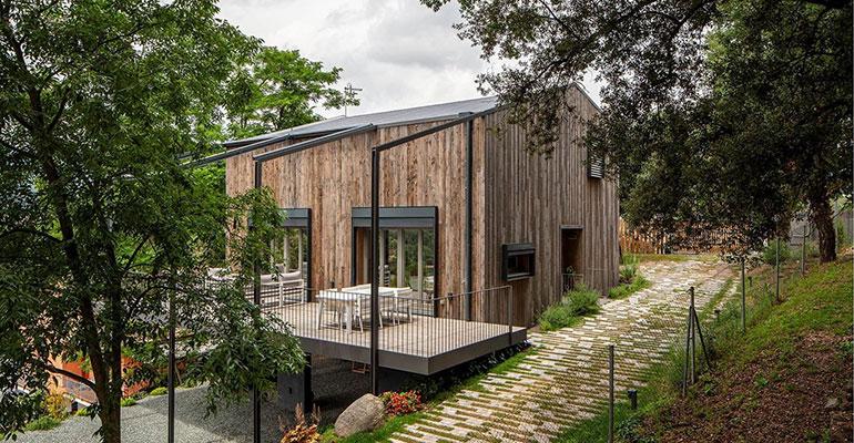 Habitat finaliza una vivienda biopasiva en Sant Pere de Vilamajor (Barcelona)